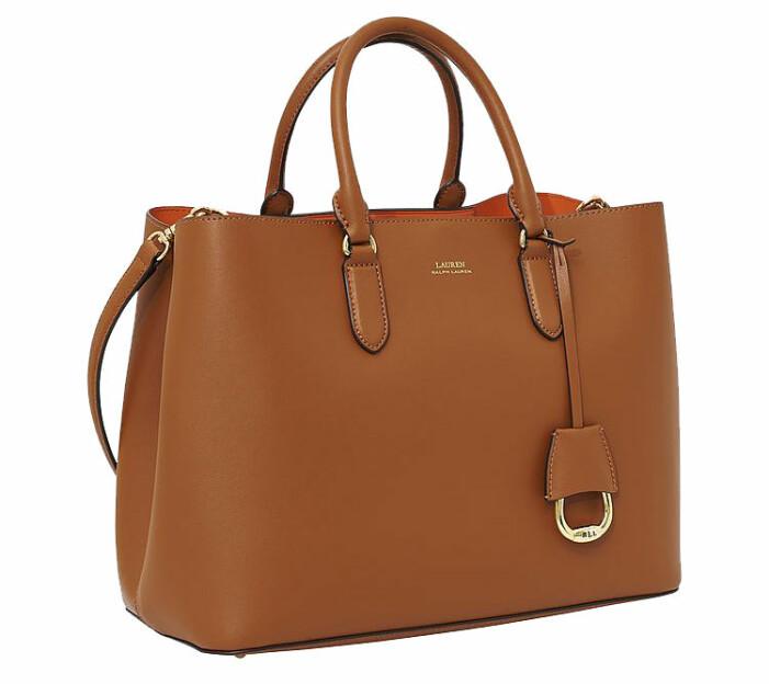 brun väska läder