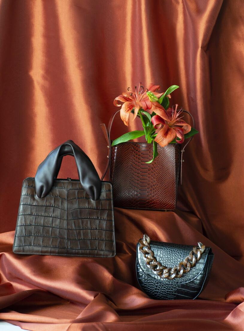 Bruna väskor från Baum&Pherdgarten, Little Liffner och Carin Wester.