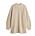 Beige, oversizad, stickad tröja med rundad hals. Stickad tröja från By Malene Birger.