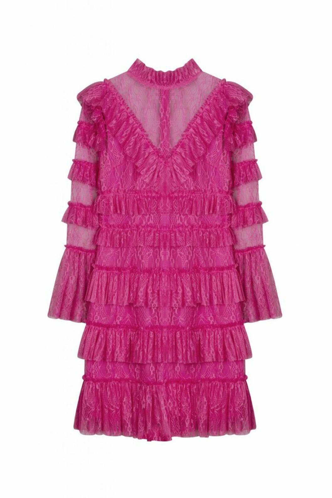By Malina höstkollektion 2020: rosa spetsklänning