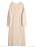 Beige, grovstickad klänning i oversizad modell från By Malene Birger.