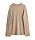 Oversizad, beige tröja med rund hals. Stickad tröja från By Malene Birger.