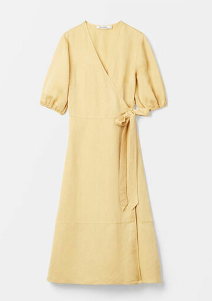 gul omlottklänning från carin wester