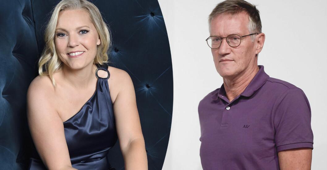 Carina Bergfelt och Anders Tegnell är populära drömgäster på julbordet 2020.