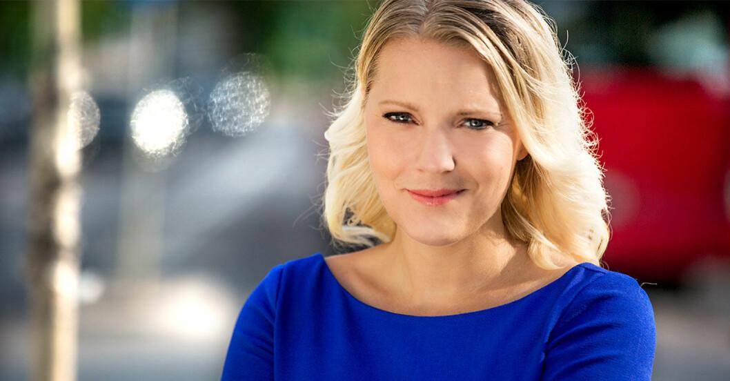 Carina Bergfeldt, korrespondent för SVT.