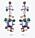 Hängande örhängen med stenar och strass i olika färger och former. Örhängen från Caroline Svedbom.