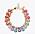 Armband med två rader av stenar och strass i olika färger och storlekar. Armband från Caroline Svedbom.