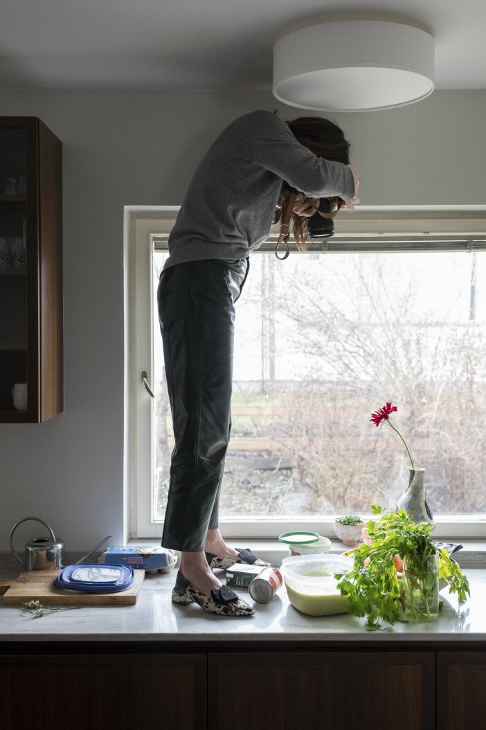 Hemma hos Cecilia Blankens foto influencer kök