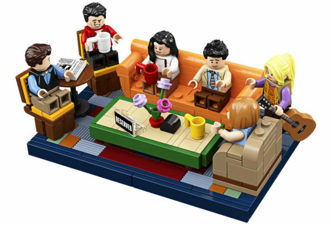 Central Perk från Vänner som lego - soffan