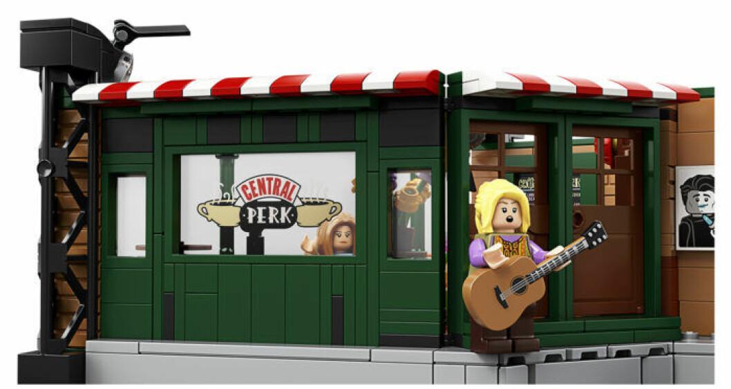 Central Perk från Vänner som Lego - exteriören