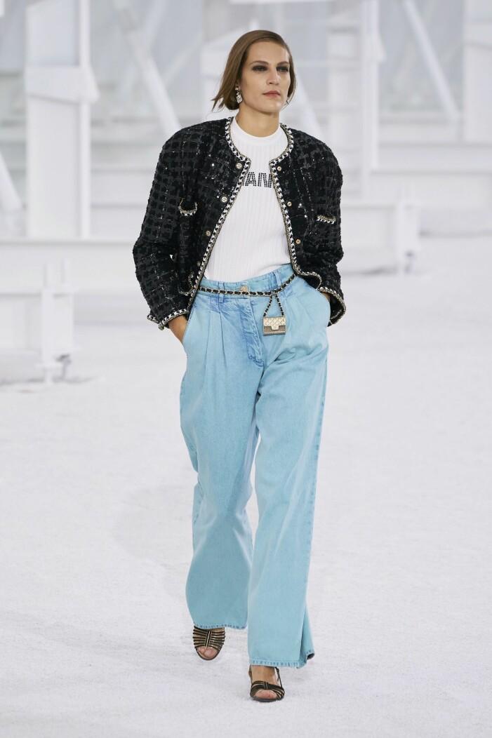 Chanel ss 21 blå jeans