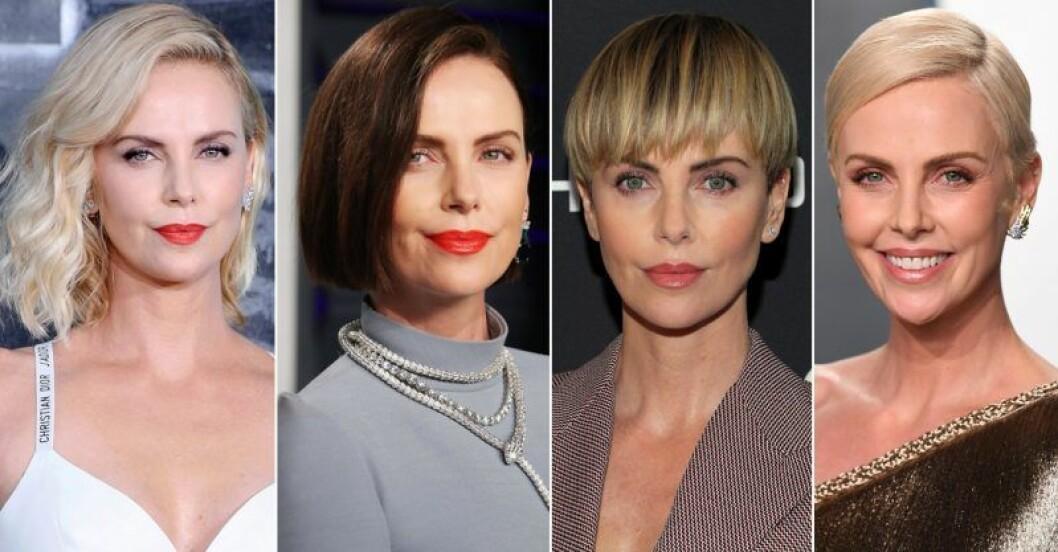 Charlize Theron i massa olika frisyrer