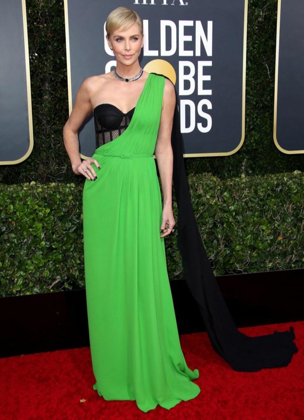 Charlie Theron på Golden Globes.