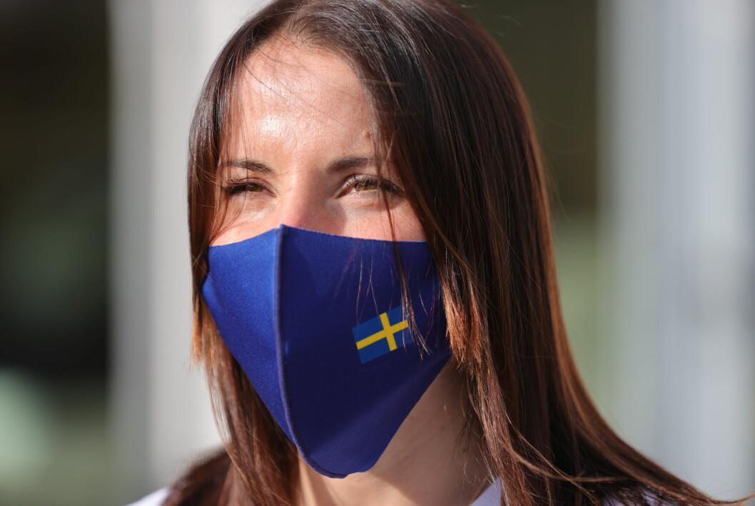 Charlotte Kalla med munskydd
