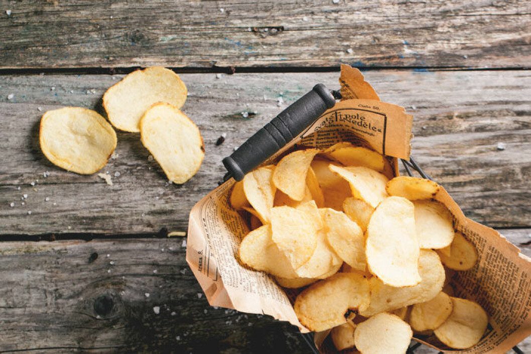 Frys in chipsen som inte gick åt på fredagsmyset.