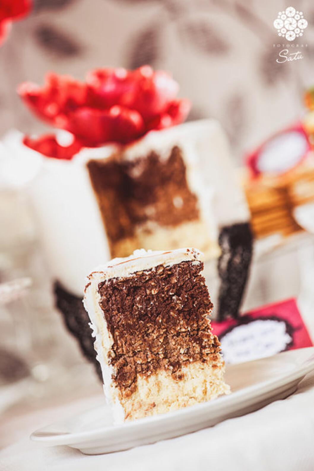 chokladbollar tårta