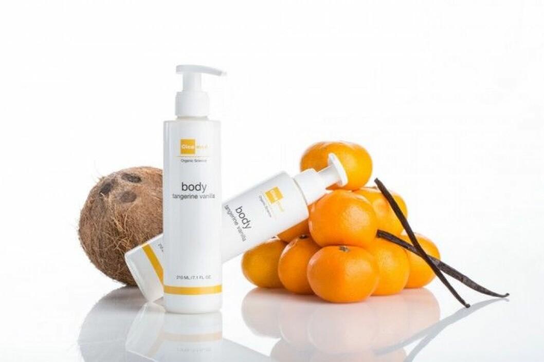 Tangerine Vanilla Bodylotion från svenska cosmeceuticlasmärket Cicamed