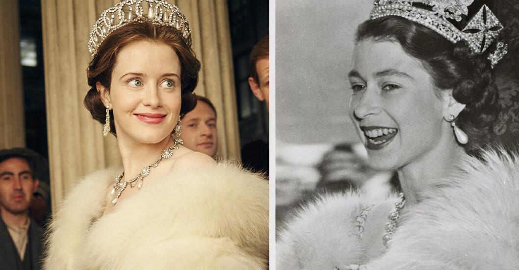 Claire Foy och Drottning Elizabeth.