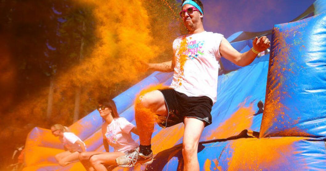 Color Obstacle Rush, ett roligt lopp med många hinder - och mycket färg!