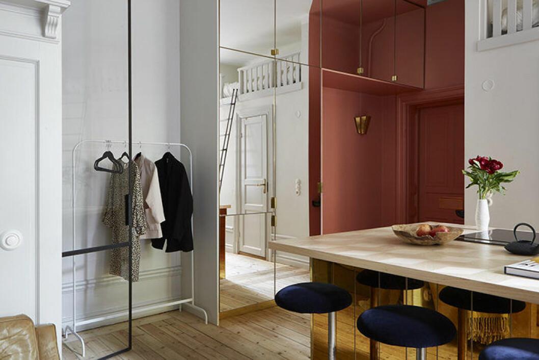 Speglar är perfekta för compact living