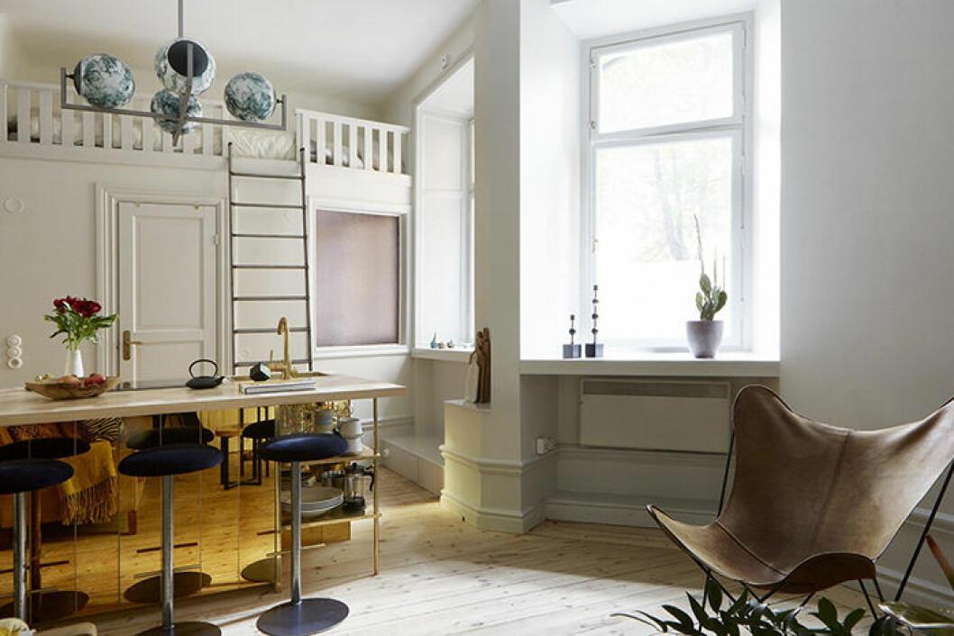 Loftsängen är ett bra compact living-val