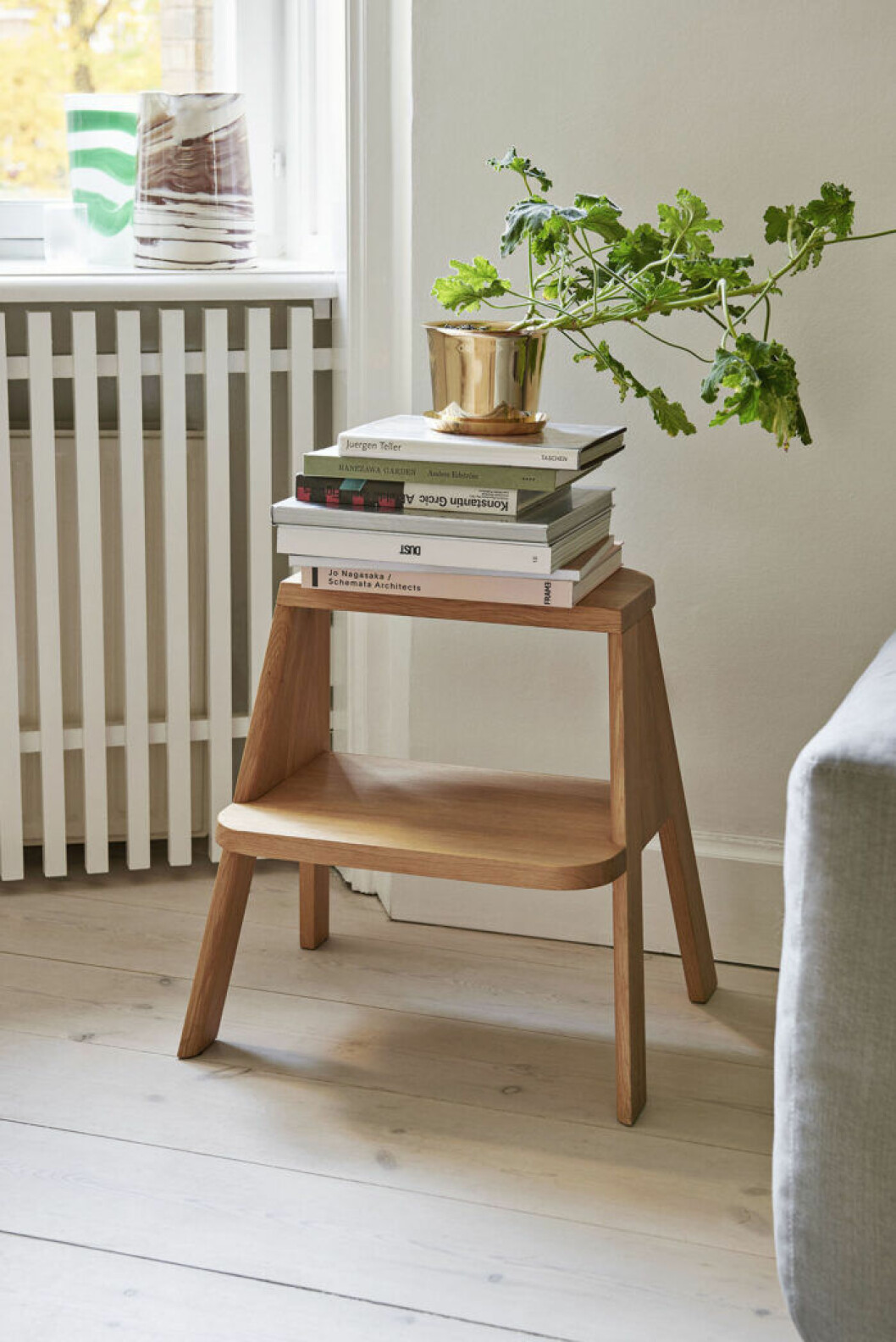 En pall är den perfekta compact-livingmöbeln, med många möjliga funktioner