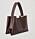 Mörkbrun skinnväska i shopper-modell med brett axelband. Väska från Cos.
