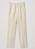 Off-white, beiga byxor med pressveck i linne från Cos.