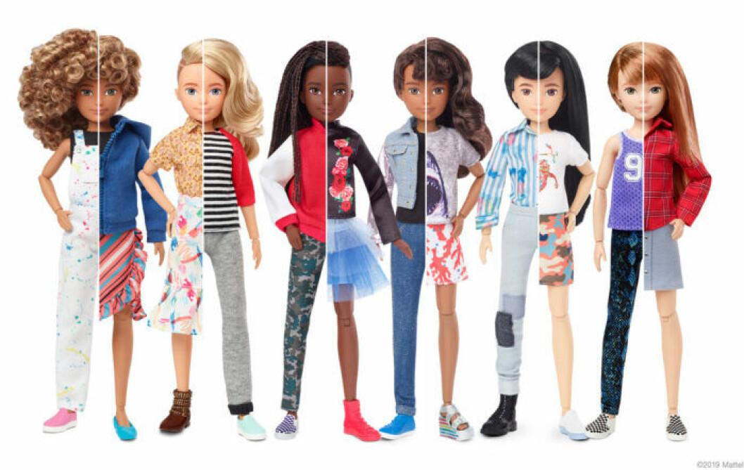 De könsneutrala Creatable World-dockorna från Mattel går att köpa på CDON.se och Coolshop.se