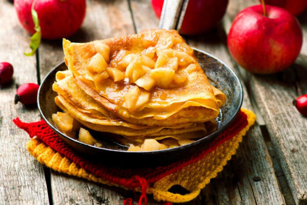 Godare dessert än crêpes med äpple får man leta efter.