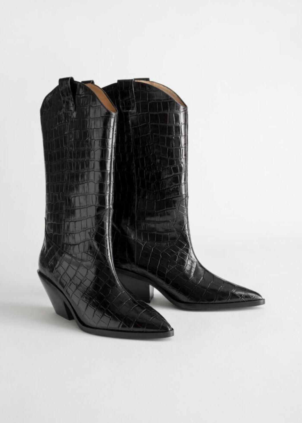 Svarta cowboyboots