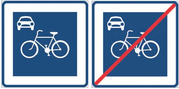 Nya vägmärken för cykeltrafik.