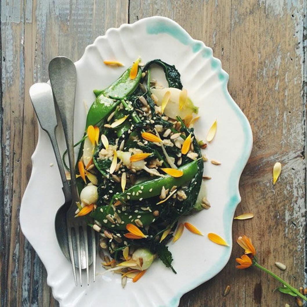 dagmarskitchen Feminas ständiga favorit – Dagmars kitchen. Den här gången med sockerärtor och grönkål.