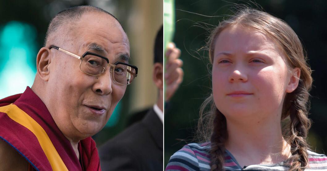 Dalai lama och Greta Thunberg samtalade i helgen.