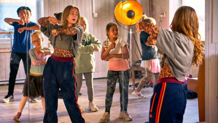 Molly Nutley tränar dans