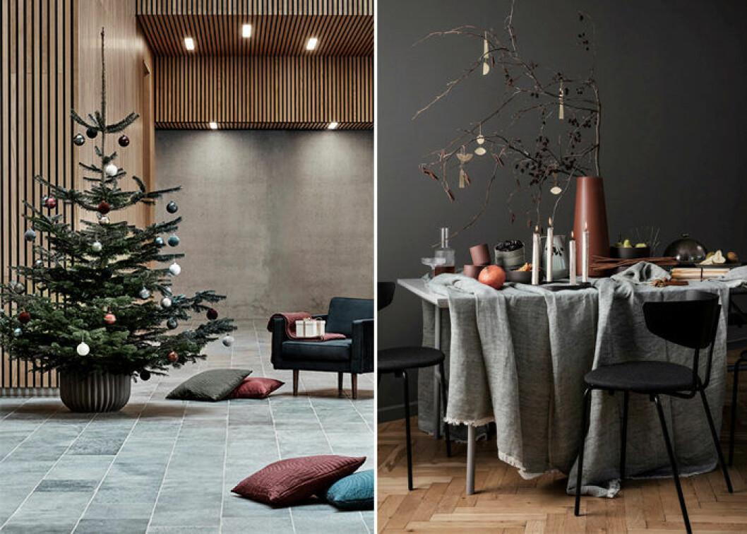 Dova färger dominerar hos danska märken i jul