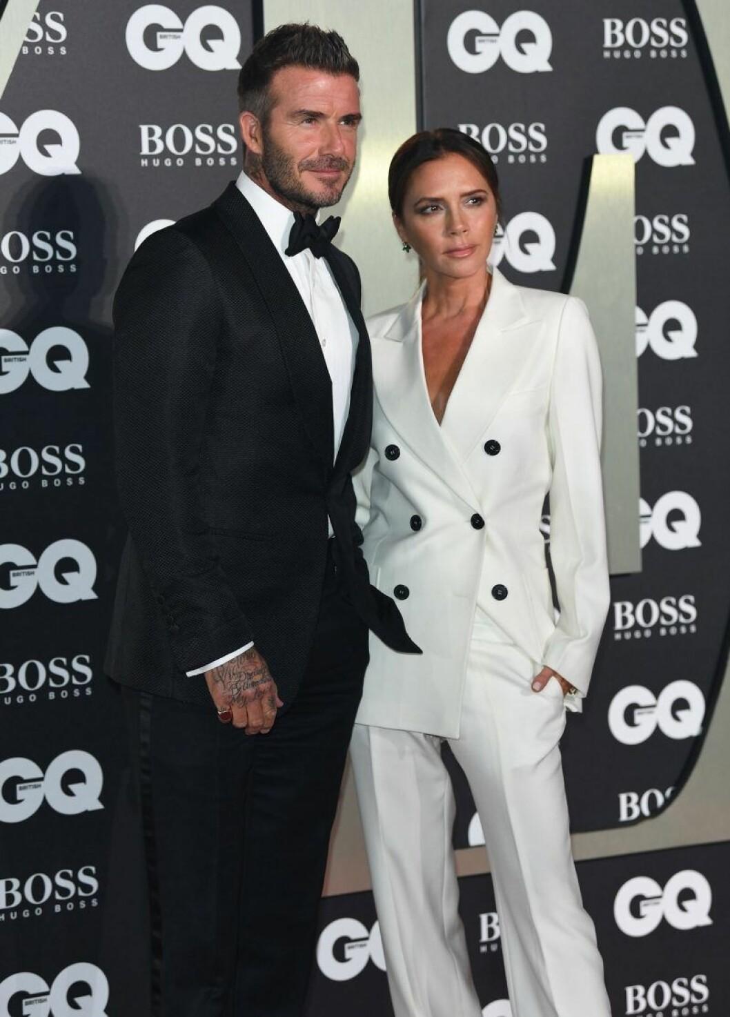 Victoria och David Beckham på röda mattan