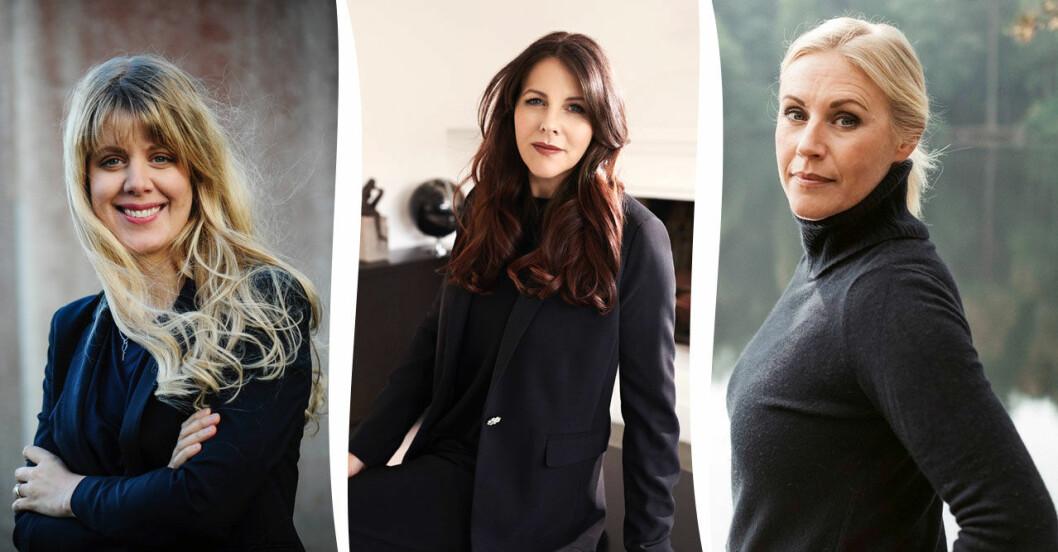 Framtidens deckardrottningar Frida Moisto, Ramona Ivener och Linda Ståhl.