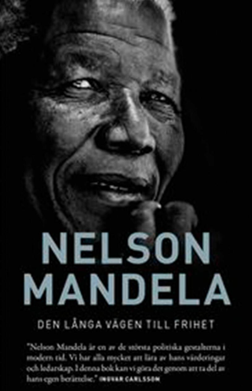Bokomslag till Den långa vägen till frihet- Bild på Nelson Mandela.