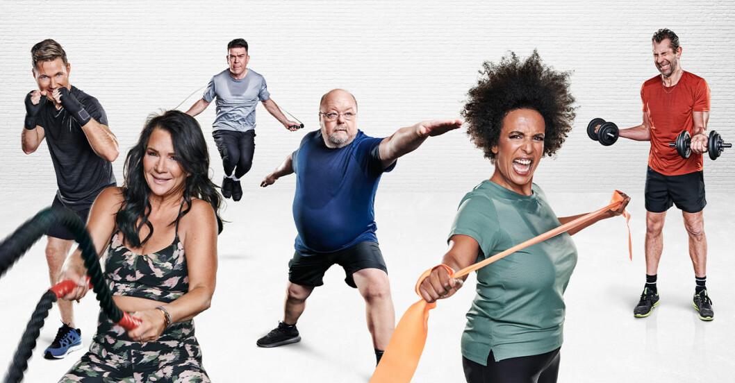 Bilder på deltagarna efter den stora hälsoresan på kanal 5.