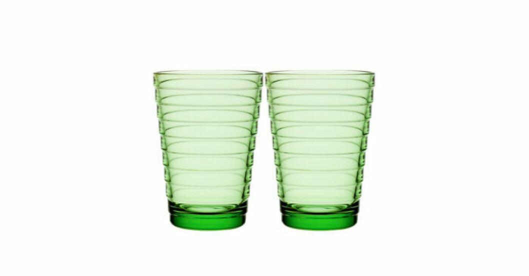 Aino Aaltos gröna dricksglas för Iittala