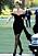 Diana i svart kort klänning