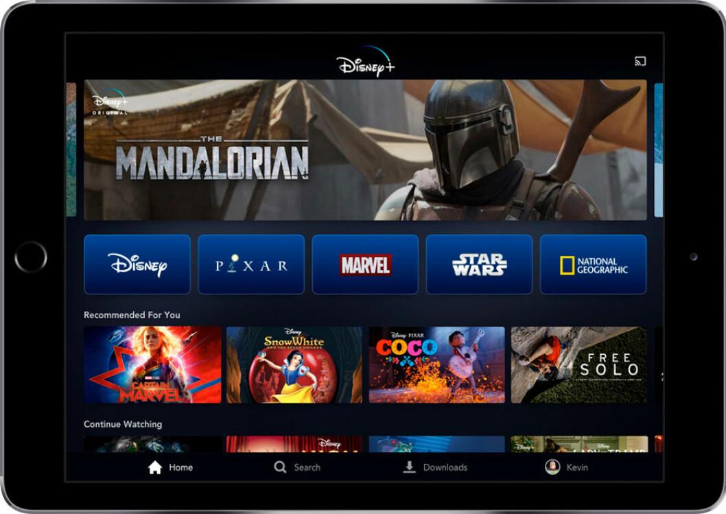 Disneys nya streamingtjänst Disney+.