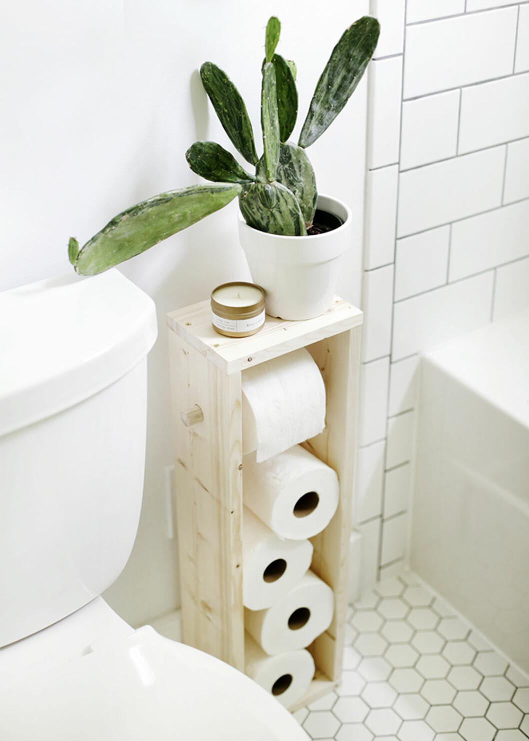 DIY toalettpappershållare