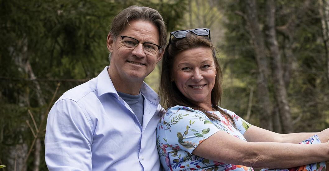 Doktor Mikael Sandströms sommarbild med Lotta Engberg