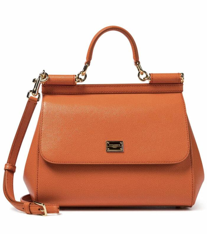 Orange väska i läder från Dolce & Gabbana