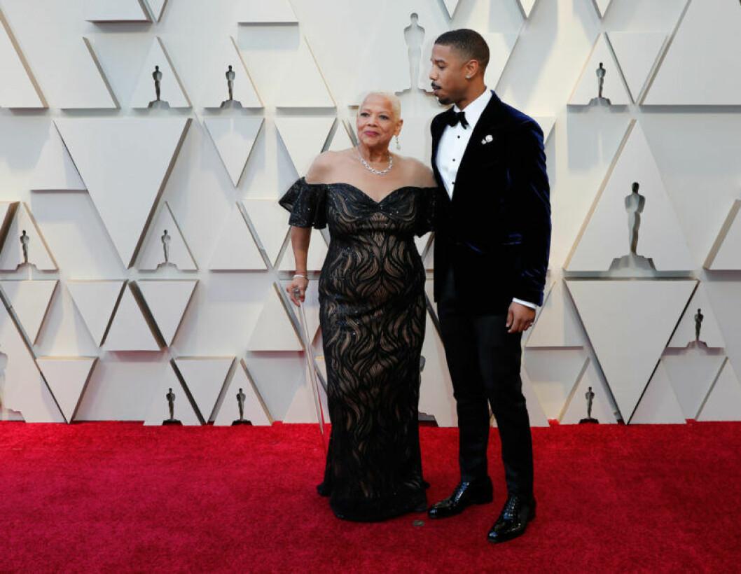 Donna Jordan och Michael B. Jordan på Oscarsgalan 2019