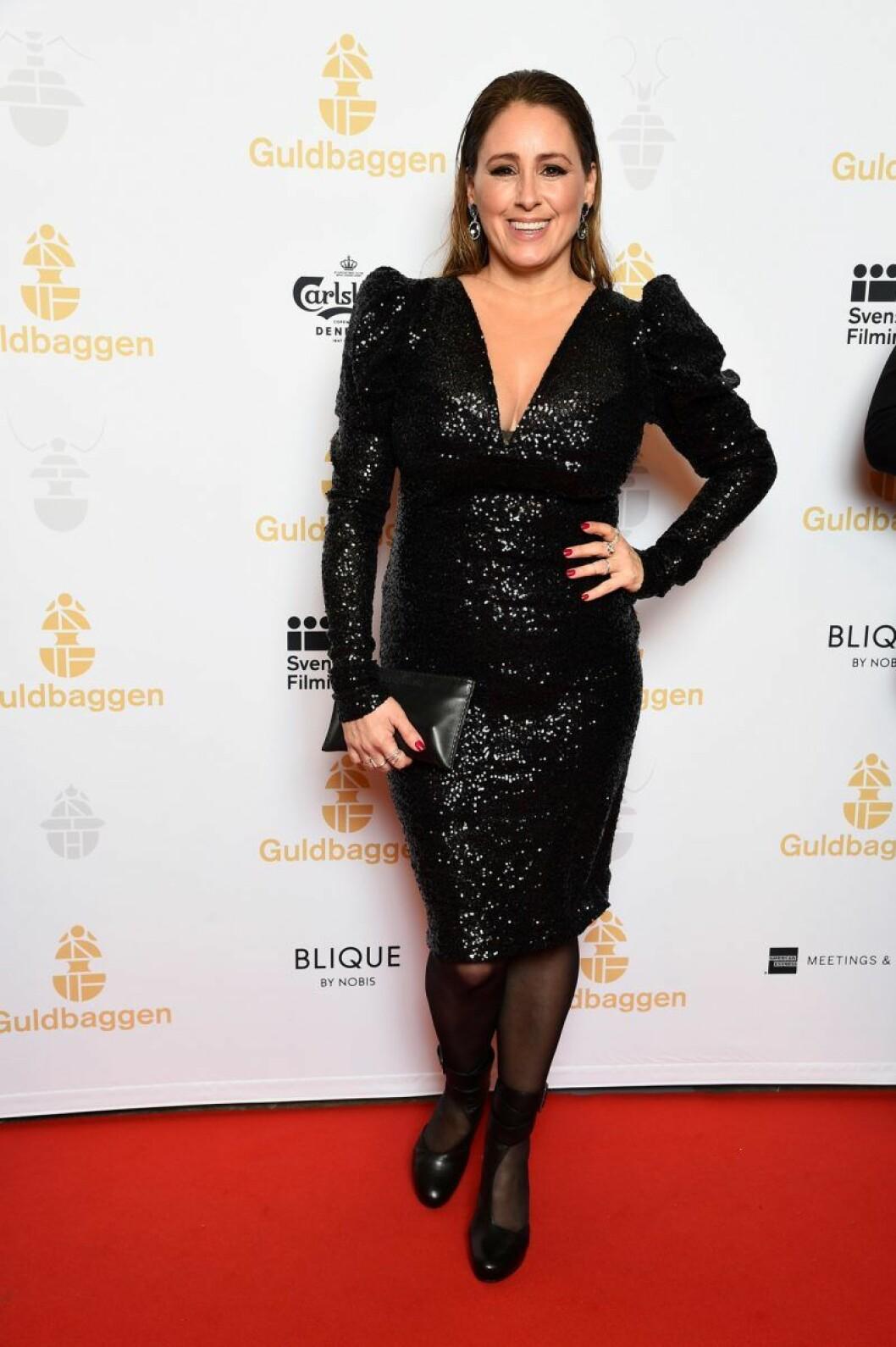 Doreen Månsson på röda mattan på Guldbaggegalan 2020