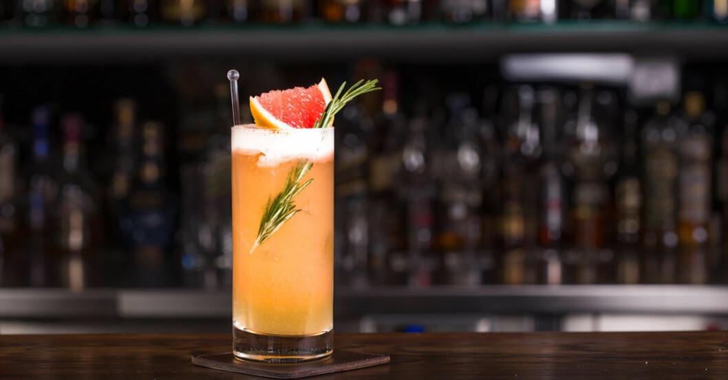 Oragne drink med rosmarin och grapefrukt