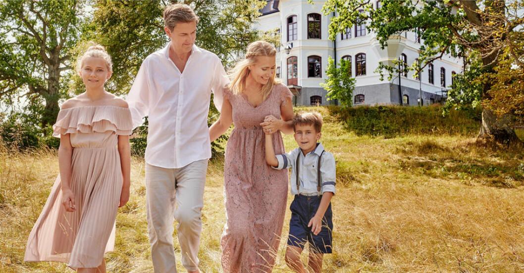 """Familjen lätt renoverar sitt drömhem i tv-programmet """"Drömmen om Slottet"""""""
